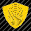 biometric, fingerprint, hacks, incorruptible icon