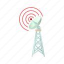 antenna, cartoon, communication, dish, telecommunication, tower, wireless