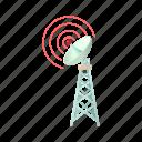 antenna, cartoon, communication, dish, telecommunication, tower, wireless icon
