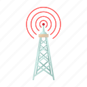 antenna, cartoon, communication, telecommunication, tower, wireless