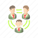 arrow, business, cartoon, green, people, person, success icon