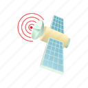 cartoon, communication, render, satellite, space, technology icon