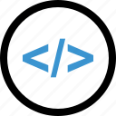 code, internet, language, program icon