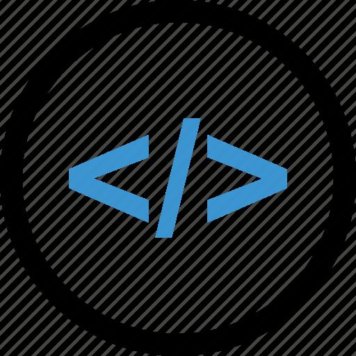 code, internet, language, program icon