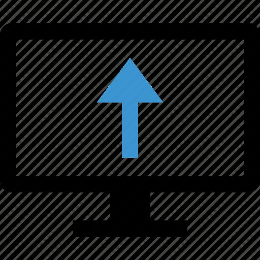 arrow, computer, internet, up icon