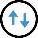 connection, down, internet, up icon