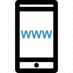 cell, internet, mobile, website icon