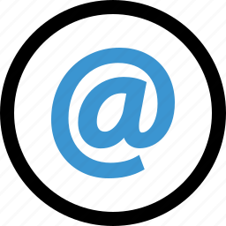 addresss, at, internet, mail, sign icon