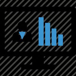 internet, monitor, profile, user icon