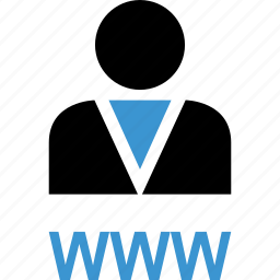 internet, profile, user, web, www icon