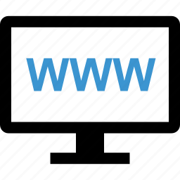 computer, internet, online, screen, www icon