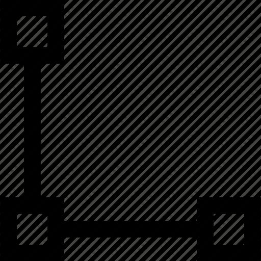 connect, creative, dots, three icon