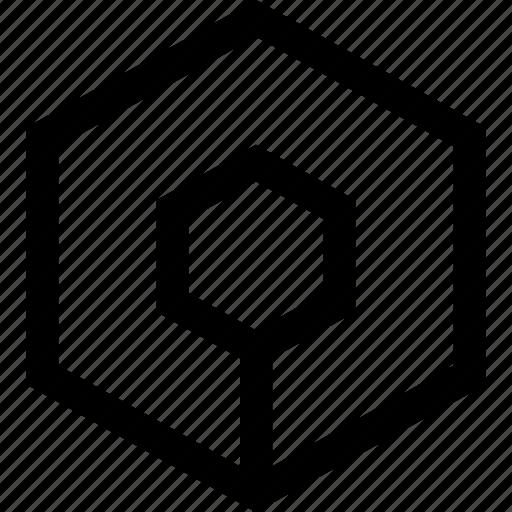 abstract, creative, hexagon icon