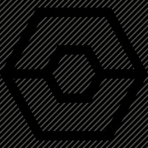 creative, eye, hexagon icon