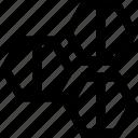 creative, hexagons, three icon