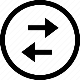 arrow, internet, left, right icon