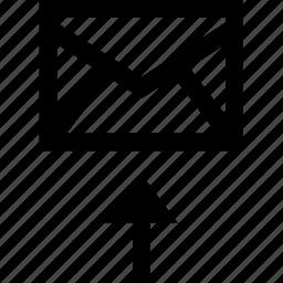 arrow, internet, mail, up, upload icon