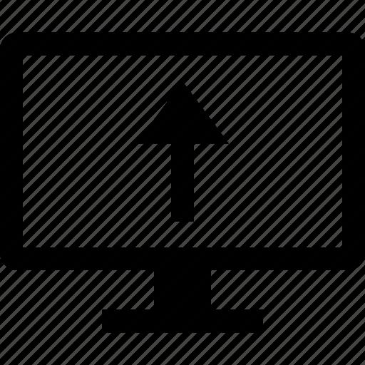 arrow, internet, point, up, upload icon