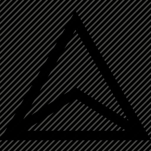 creative, pointer, triangle icon
