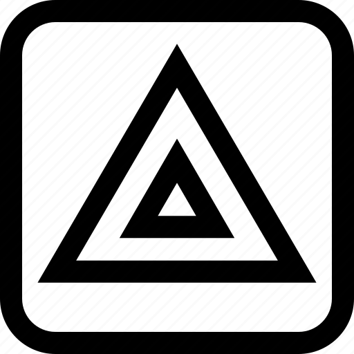 point, triangle, up icon