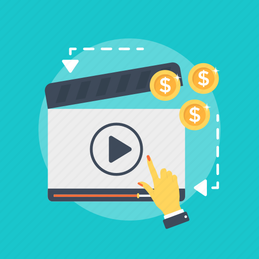 internet marketing, internet video, online marketing, video marketing, video production icon
