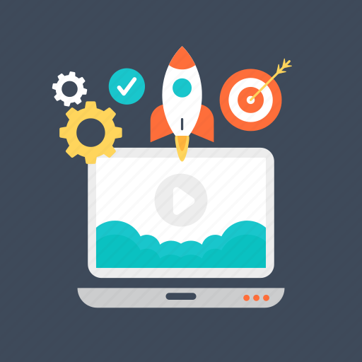 new business, space rocket, startup, web marketing launch, website launch icon