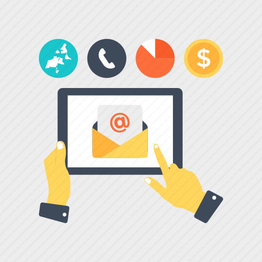 digital marketing, email campaign, mailing advertisement, marketing automation, personal email marketing icon
