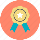 award badge, badge, medal, quality symbol, ribbon