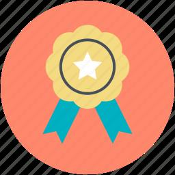 award badge, badge, medal, quality symbol, ribbon icon