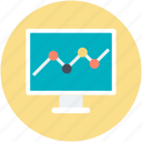 increasing chart, link building, monitor screen, search engine optimization, statistics icon