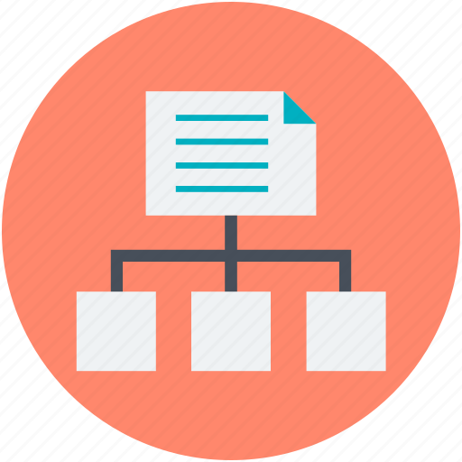 advertising, data hierarchy, flow chart, organization chart, presentation icon