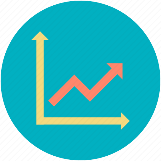 business chart, data chart, finance, graph report, growth chart icon