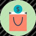 dollar sign, economics, goodie, investment, savings icon