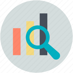 analysis, analytics, presentation, statistic search, survey icon
