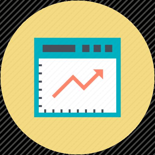 analysis, digital marketing, internet browsing, statistical chart, website graph, website ranking icon