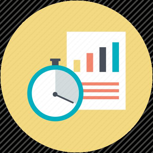 analysis, analytics, graphic report, statistics, stopwatch icon