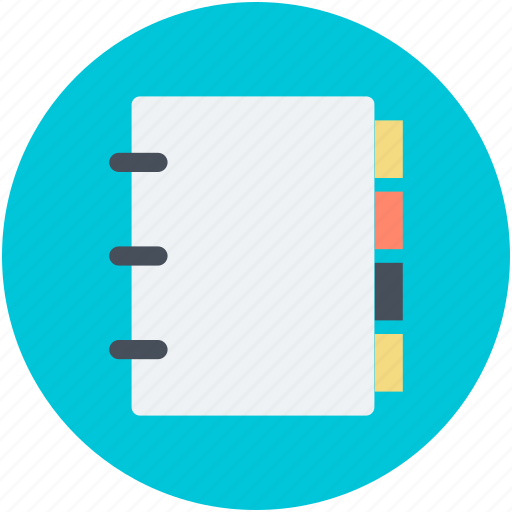 bookmark, diary, notebook, personal organizer, reminder icon