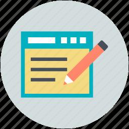 blog management, cms, content management, content strategy, pencil sign icon