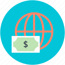 digital marketing, dollar, finance, financial, worldwide marketing icon