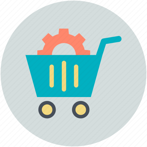gear, marketing development, online seo services, seo concept, shopping cart icon