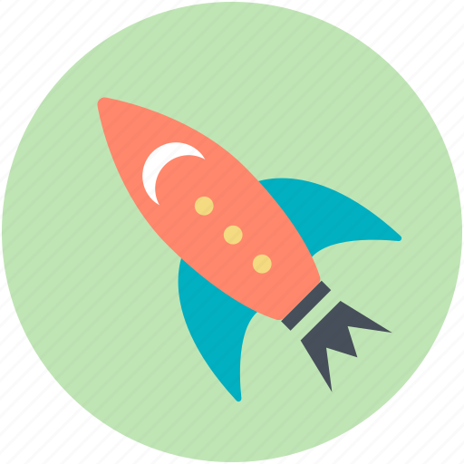 exploration, missile, rocket, space travel, spaceship icon