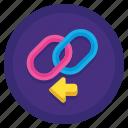 backlink, chain, hyperlink, network icon
