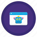bot, robot, chatbot, droid icon