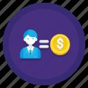 acquisition, cost per acquisition, cost, cpa icon
