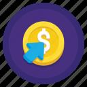 click, cost, cursor, cpc icon
