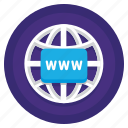 browser, domain, web, website icon