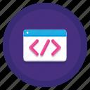 coding, html, markup, schema icon