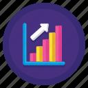 analytics, graph, traffic, up