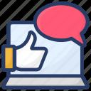 appreciation, customer rating, feedback, positive interaction, testimonial icon