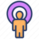 customer, target customer, target user, user location icon